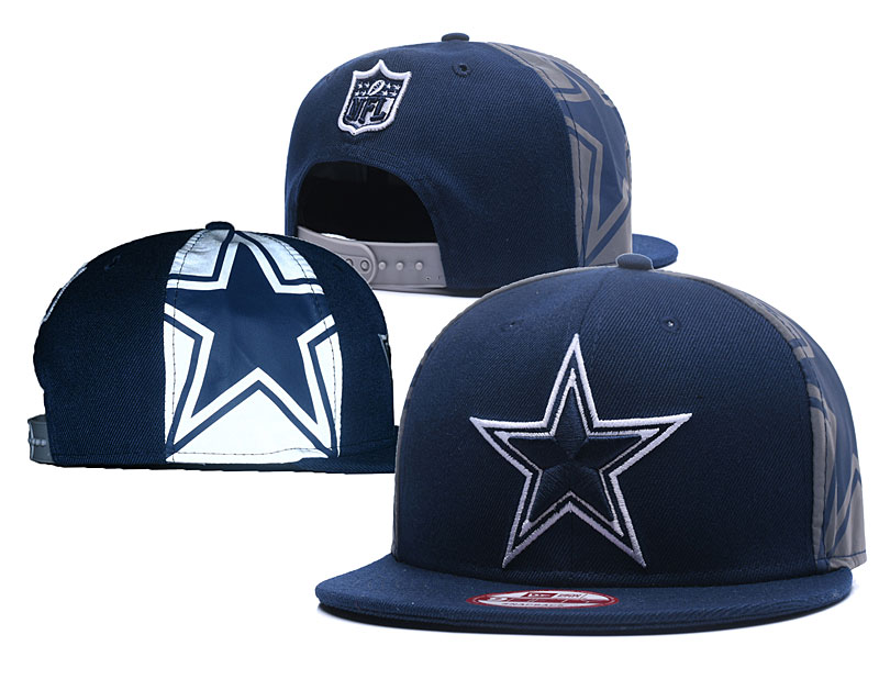 Cowboys Fresh Sliver Navy Adjustable Hat GS