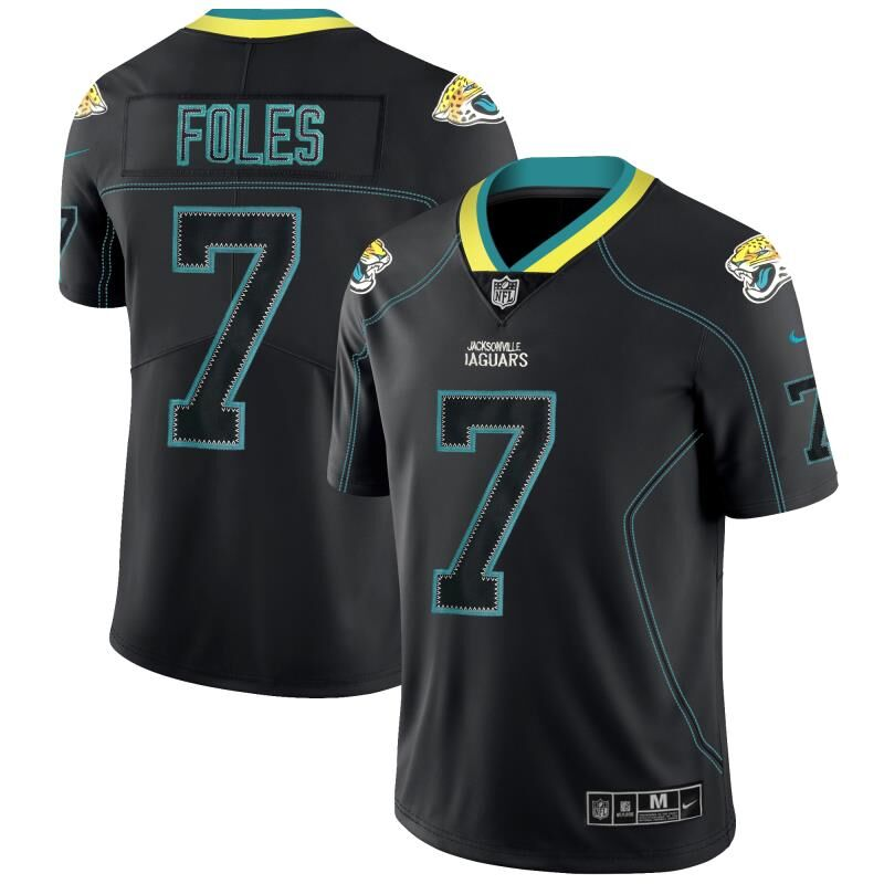 Nike Jaguars 7 Nick Foles Black Shadow Legend Limited Jersey