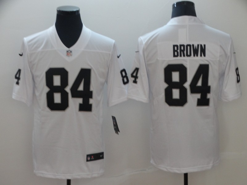 Raiders 84 Antonio Brown White Vapor Untouchable Limited Jersey