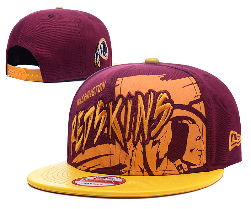 Redskins Team Logo Red Yellow Adjustable Hat GS