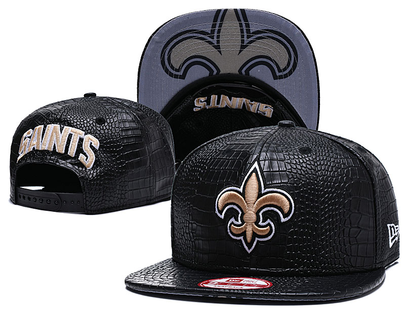 Saints Fresh Logo Black Adjustable Hat GS