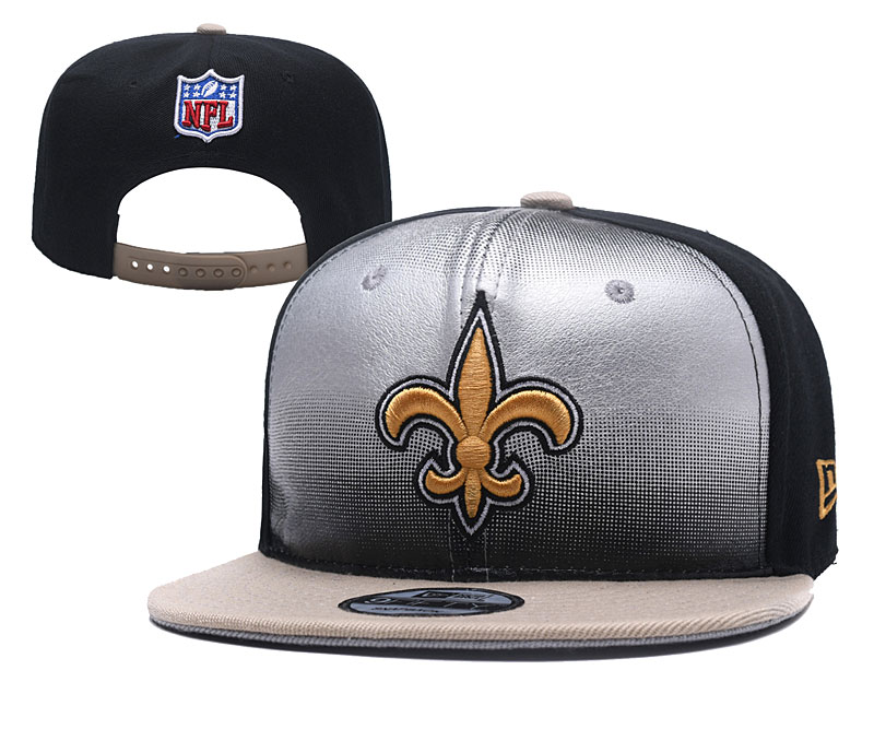 Saints Fresh Logo Silver Black Adjustable Hat YD