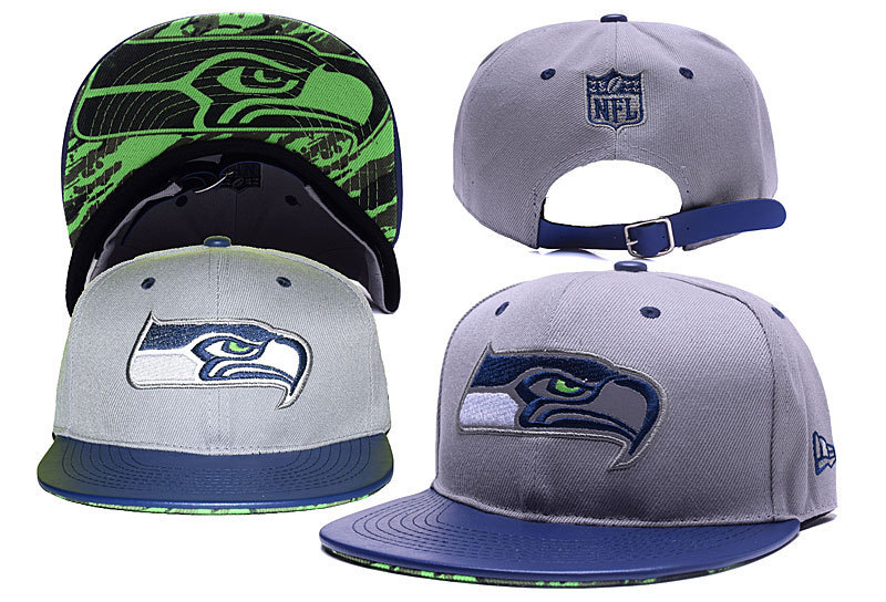 Seahawks Fresh Logo Gray Adjustable Hat YD