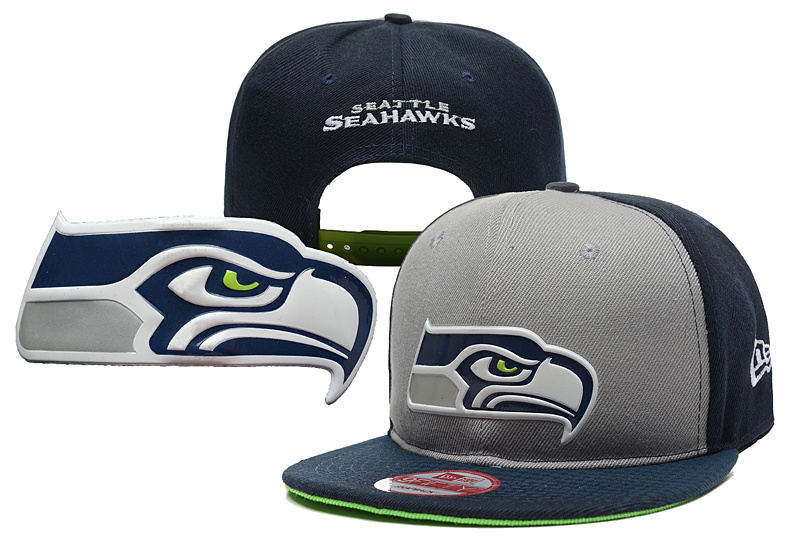 Seahawks Fresh Logo Navy Adjustable Hat YD