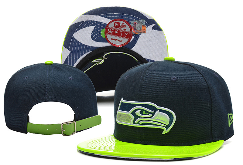 Seahawks Fresh Logo Navy Green Adjustable Hat YD