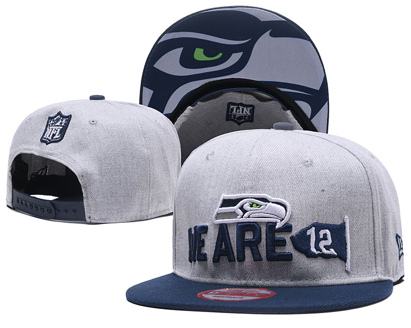 Seahawks Team Logo Gray Adjustable Hat TX