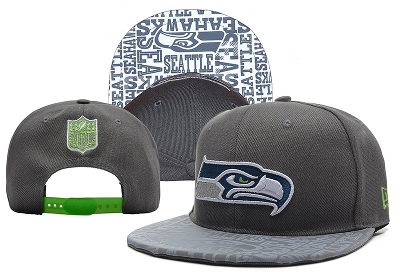Seahawks Team Logo Gray Adjustable Hat YD