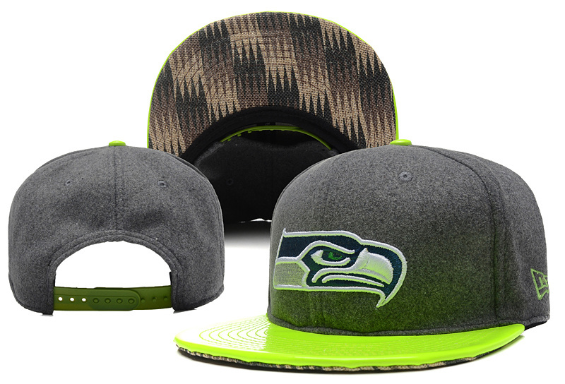 Seahawks Team Logo Gray Green Adjustable Hat YD