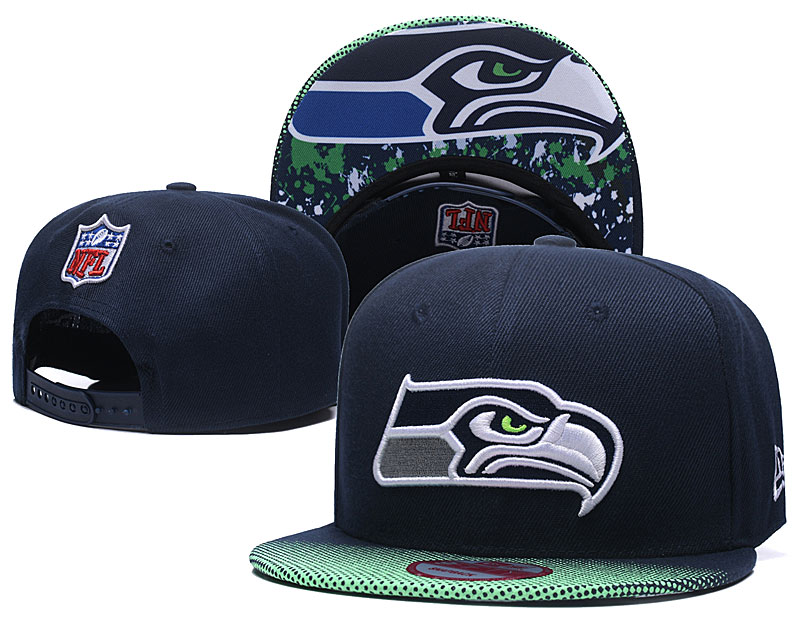 Seahawks Team Logo Navy Adjustable Hat TX