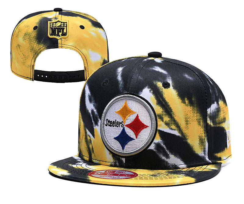 Steelers Fresh Logo Black Yellow Adjustable Hat YD
