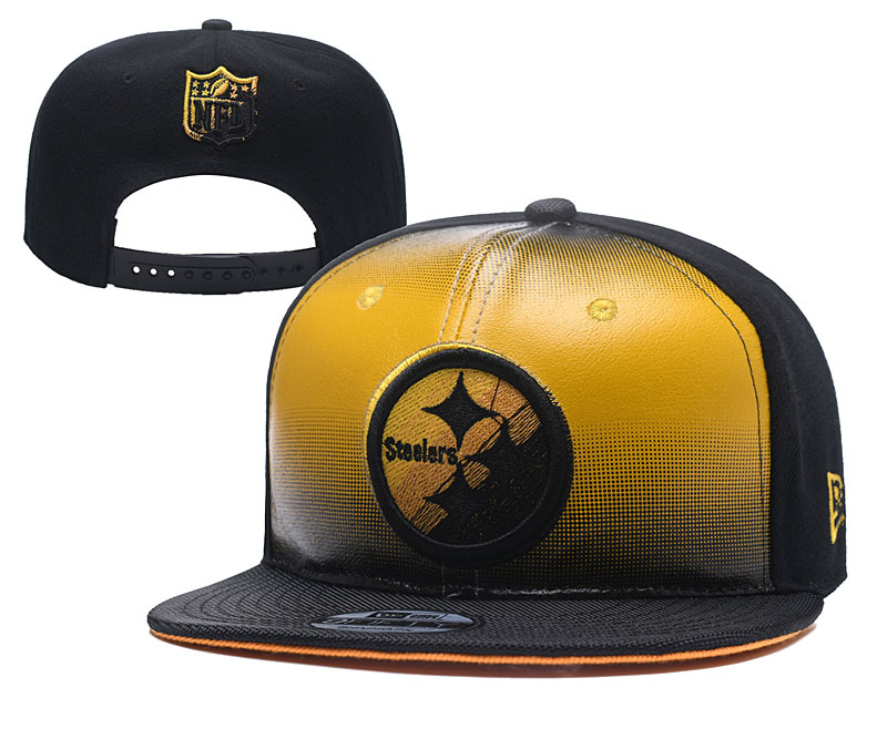 Steelers Fresh Logo Yellow Black Adjustable Hat YD