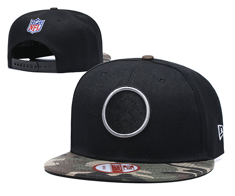 Steelers Team Logo Black Adjustable Hat TX