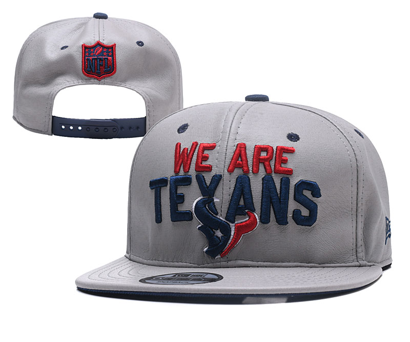 Texans Team Logo Gray Leather Adjustable Hat YD