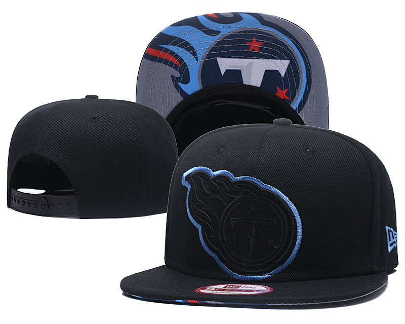 Titans Fresh Logo Black Red Adjustable Hat GS