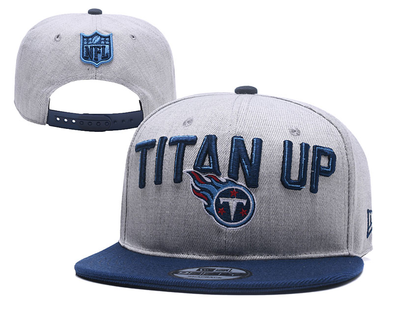 Titans Fresh Logo Gray Navy Adjustable Hat YD
