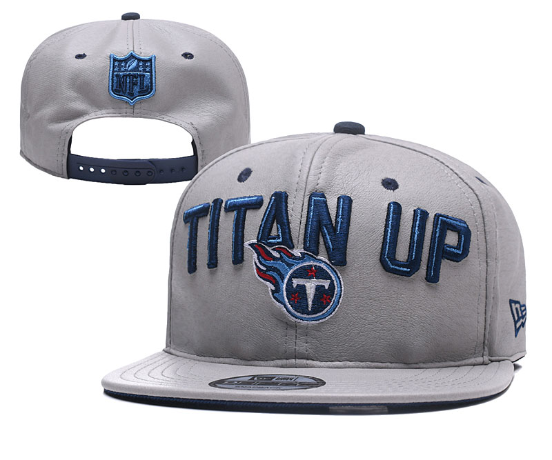 Titans Team Logo Gray Leather Adjustable Hat YD