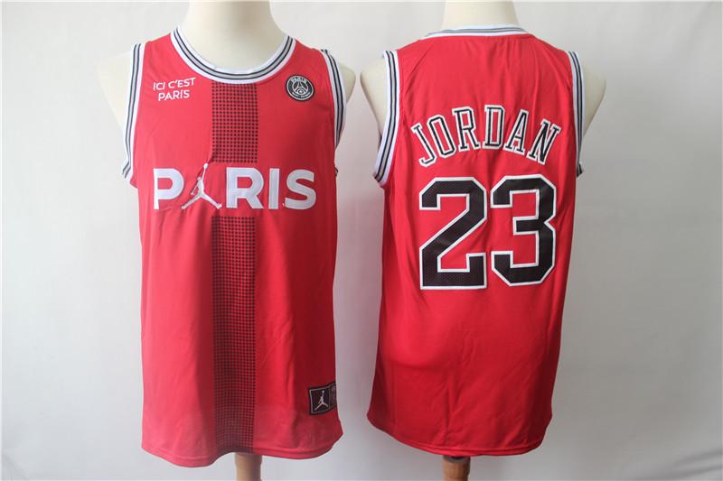 Paris Saint-Germain 23 Michael Jordan Red Fashion Jersey