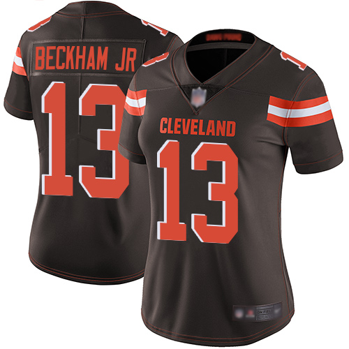 Nike Browns 13 Odell Beckham Jr Brown Women Vapor Untouchable Limited Jersey