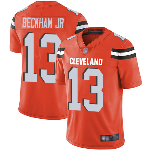 Nike Browns 13 Odell Beckham Jr Orange Youth Vapor Untouchable Limited Jersey