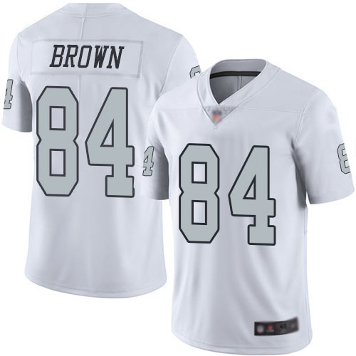 Raiders 84 Antonio Brown White Color Rush Limited Jersey