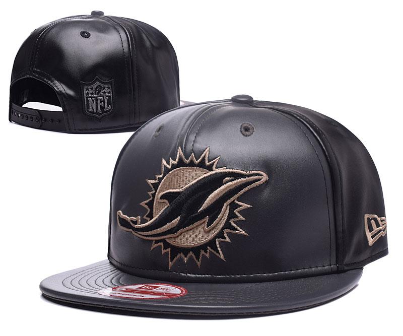 Dolphins Team Logo All Black Adjustable Hat GS
