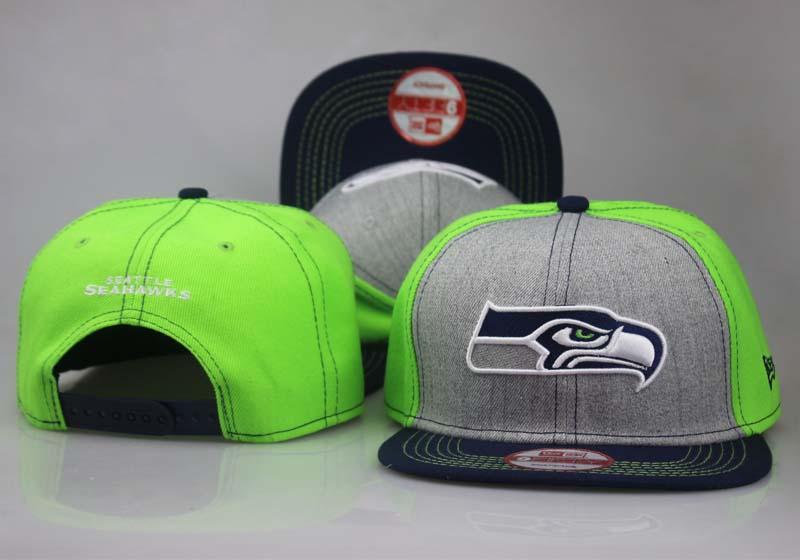 Seahawks Fresh Logo Gray Green Adjustable Hat LT