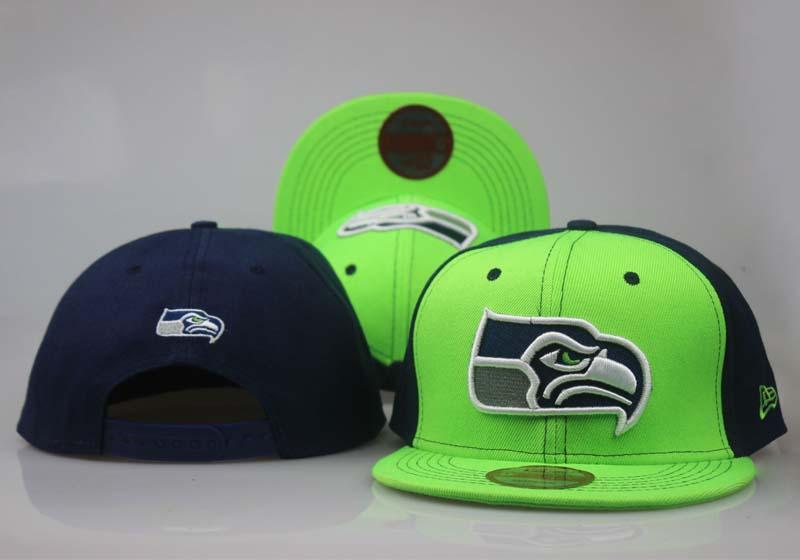 Seahawks Fresh Logo Green Navy Adjustable Hat LT