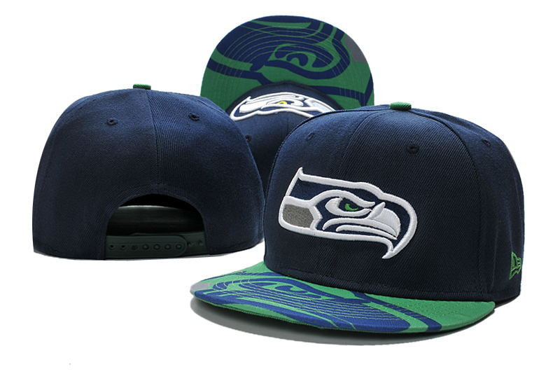 Seahawks Fresh Logo Navy Adjustable Hat LT