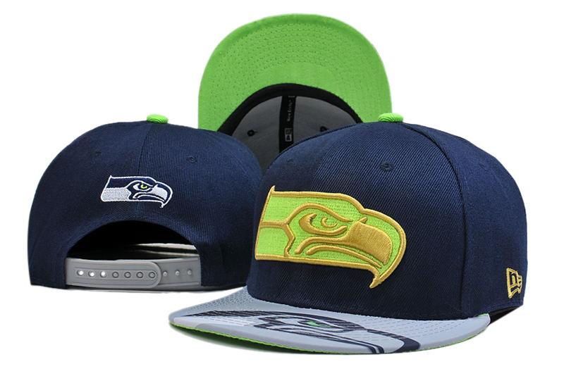 Seahawks Fresh Logo Navy Green Adjustable Hat LT