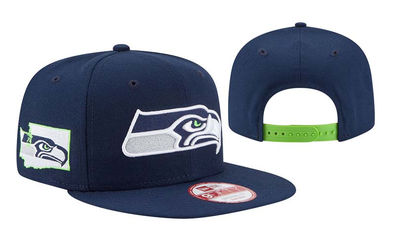 Seahawks Team Logo All Navy Adjustable Hat LT