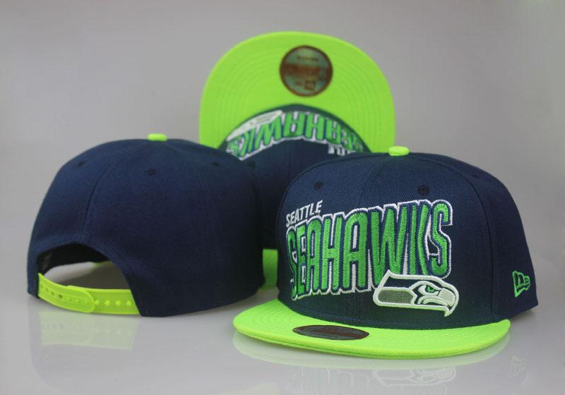 Seahawks Team Logo All Navy Green Adjustable Hat LT