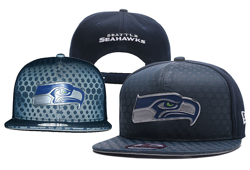 Seahawks Team Logo Black Adjustable Hat YD