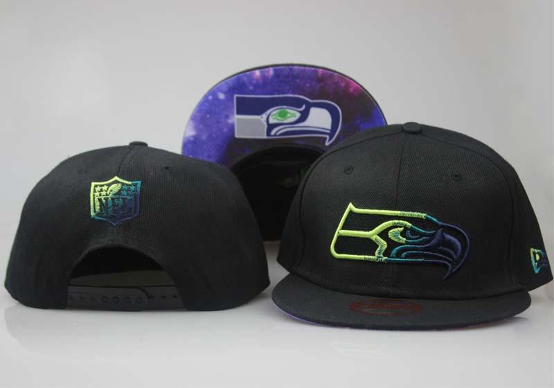 Seahawks Team Logo Black Starry Sky Adjustable Hat LT