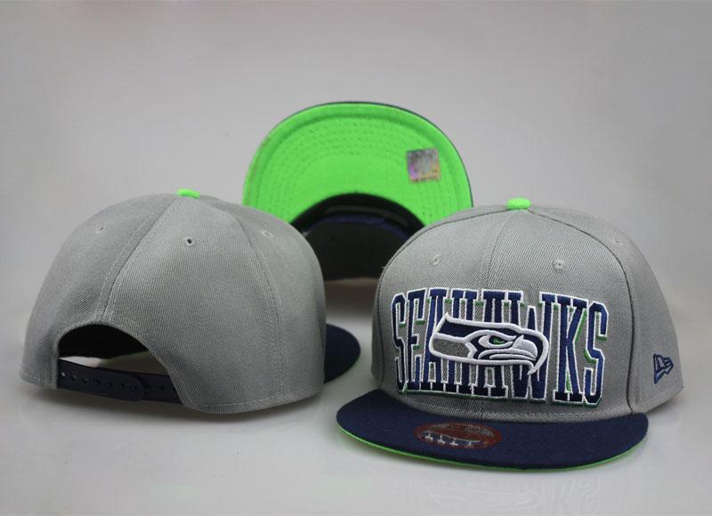 Seahawks Team Logo Gray Adjustable Hat LT