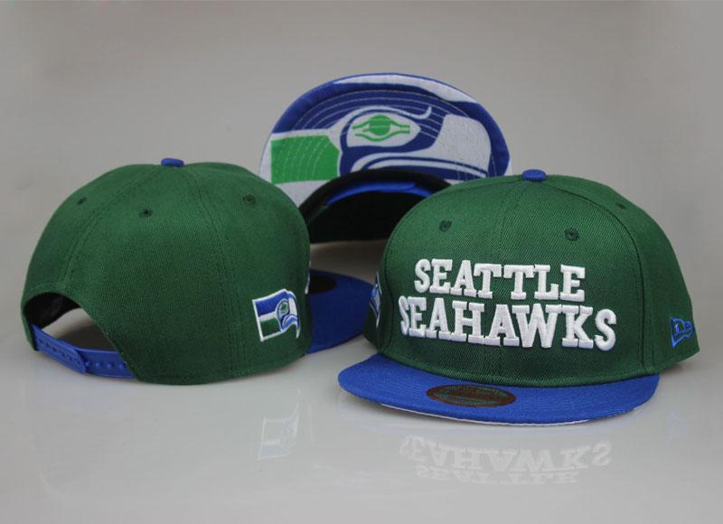 Seahawks Team Logo Green Adjustable Hat LT