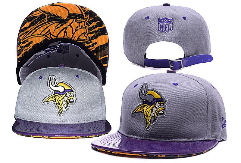 Vinkings Team Logo Gray Purple Adjustable Hat YD