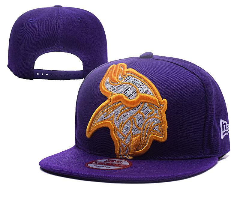 Vinkings Team Logo Purple Adjustable Hat YD