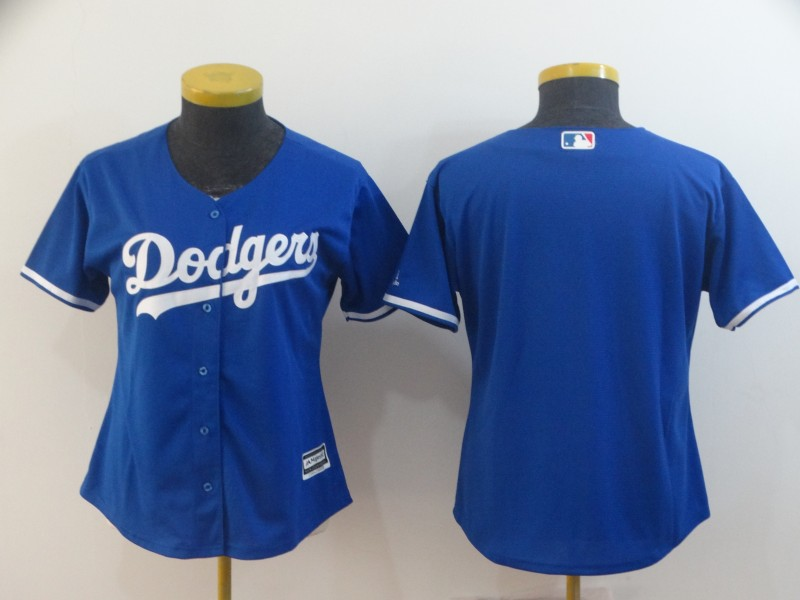 Dodgers Blank Royal Women Cool Base Jersey