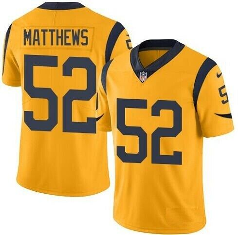 Nike Rams 52 Clay Matthews Gold Color Rush Limited Jersey