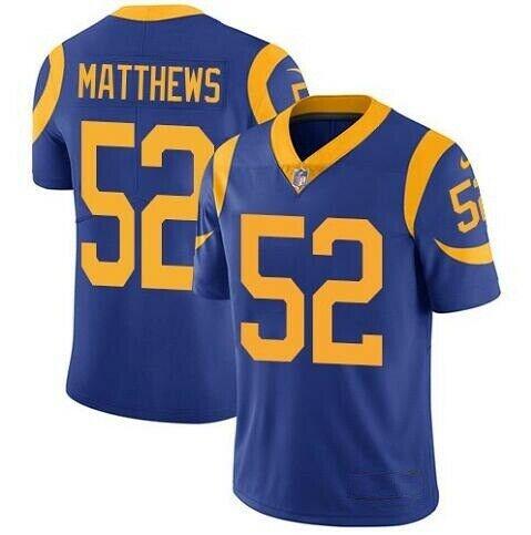 Nike Rams 52 Clay Matthews Royal Vapor Untouchable Limited Jersey