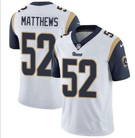 Nike Rams 52 Clay Matthews White Vapor Untouchable Limited Jersey