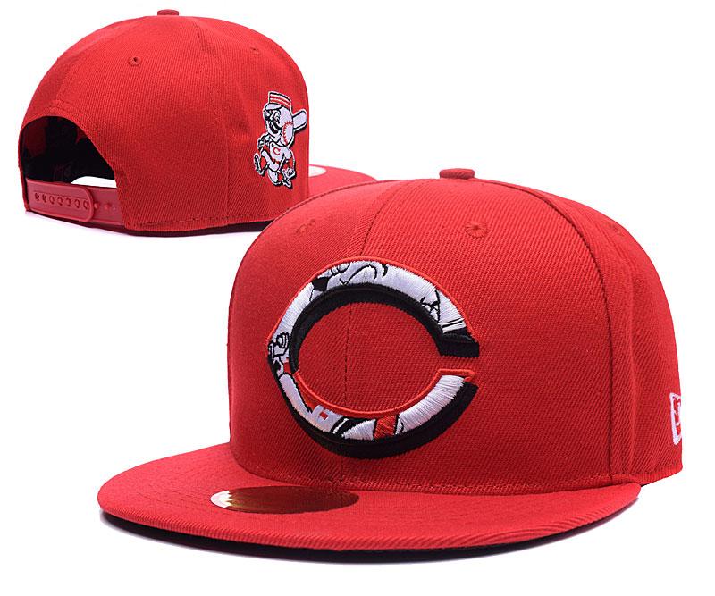 Reds Team Logo Red Adjustable Hat LH