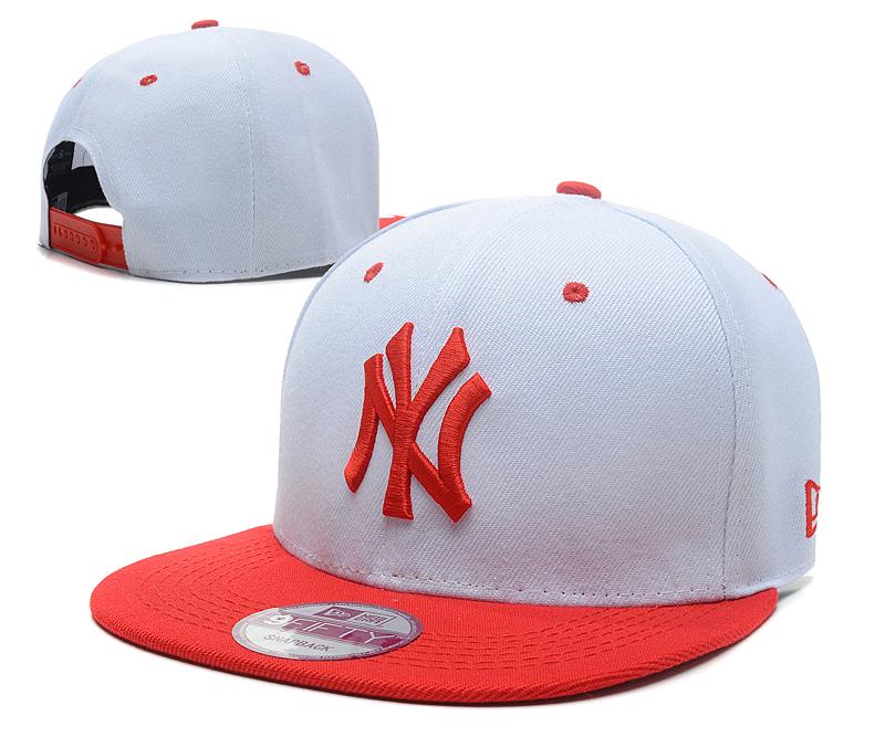 Yankees Team Logo White Orange Adjustable Hat SG