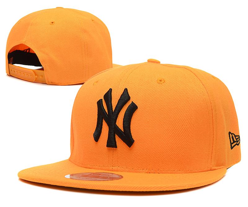 Yankees Team Logo Yellow Adjustable Hat SG