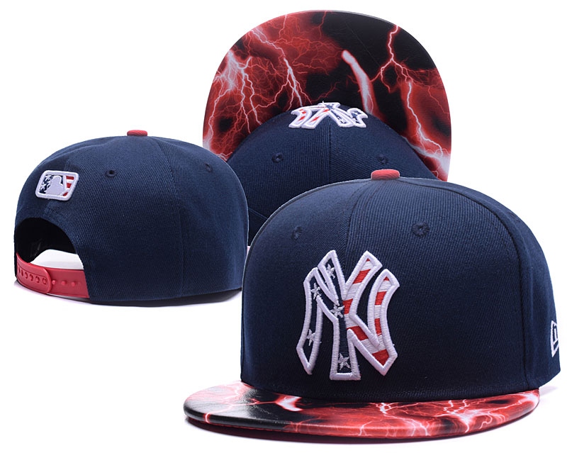 Yankees USA Flag Logo Navy Adjustable Hat LH