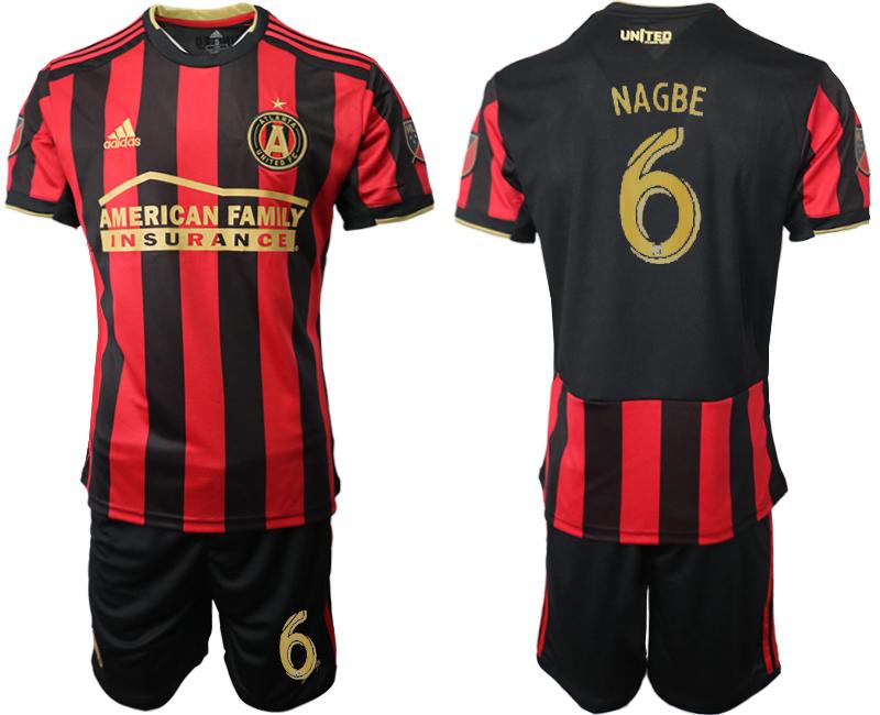 2019-20 Atlanta United FC 6 NAGBE Home Soccer Jersey
