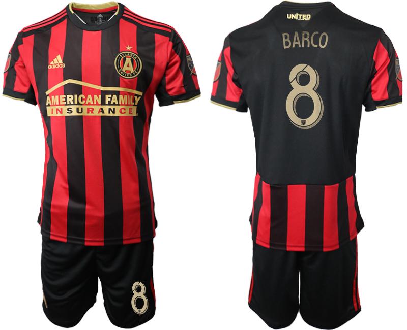 2019-20 Atlanta United FC 8 BARCO Home Soccer Jersey
