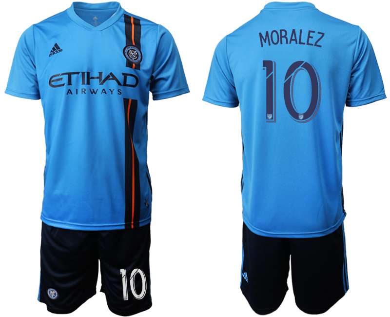 2019-20 New York City FC 10 MORALEZ Home Soccer Jersey