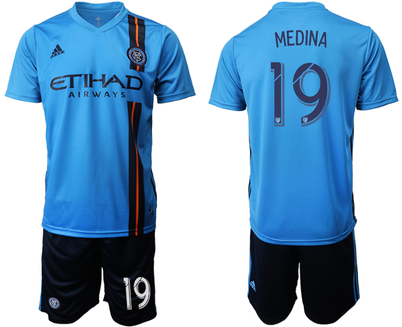 2019-20 New York City FC 19 MEDINA Home Soccer Jersey