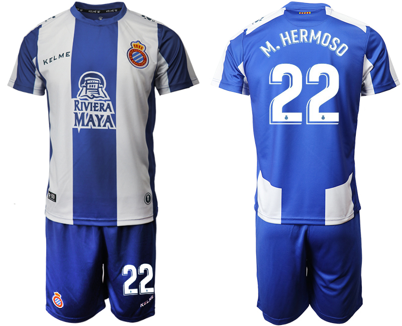2019-20 RCD Espanyol 22 M. HERMOSO Home Soccer Jersey